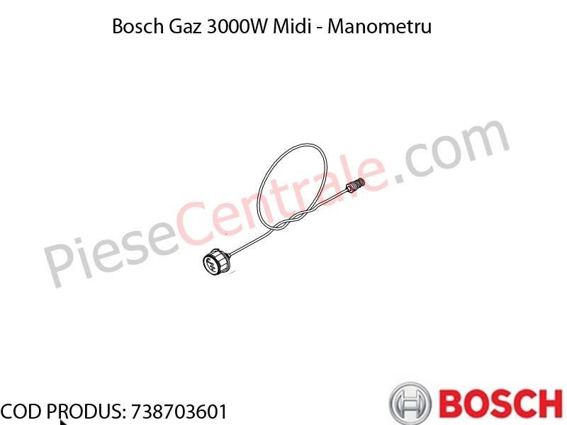 Poza Manometru centrala termica Bosch Gaz 3000W Midi
