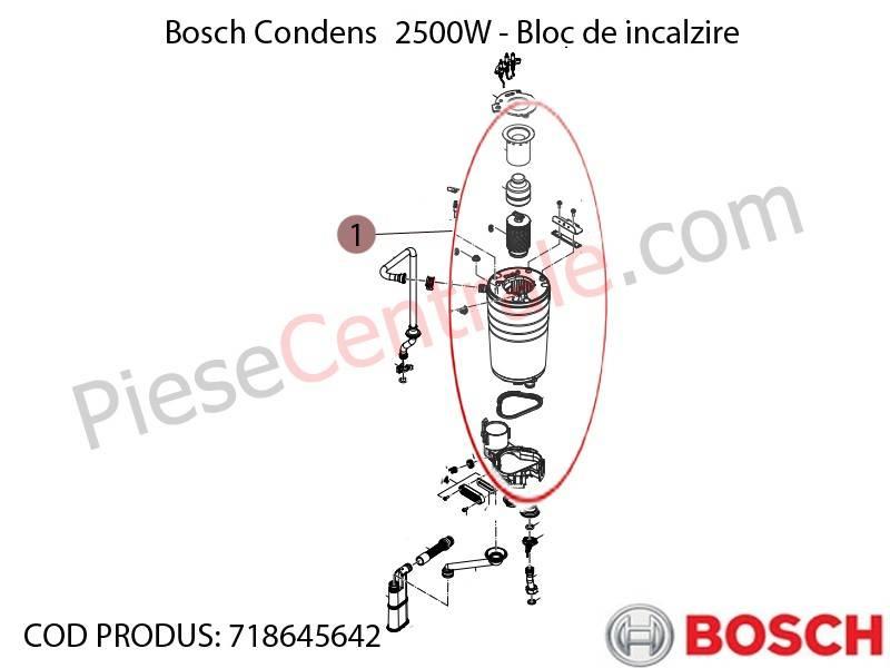 Poza Bloc de incalzire Bosch Condens 2500W