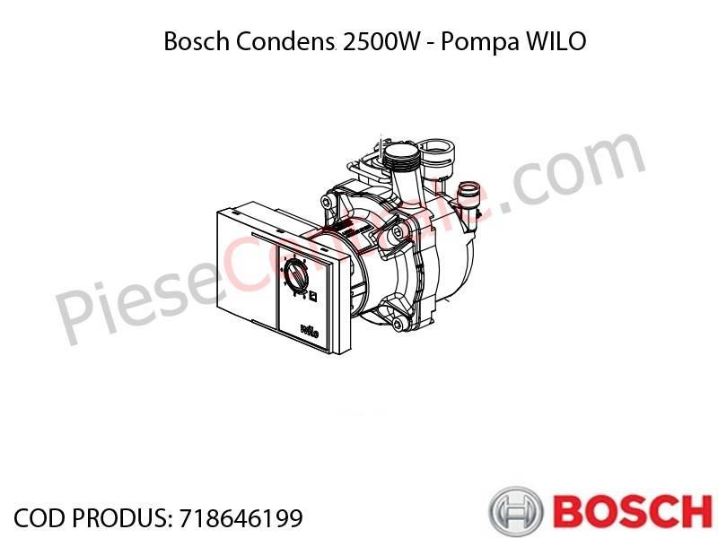Poza Pompa WILO centrala termica Bosch Condens 2500W