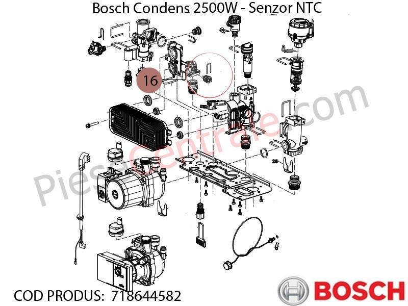 Poza Senzor NTC centrala termica Bosch Condens 2500W