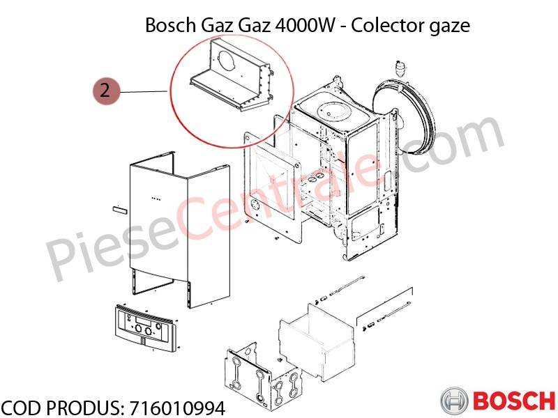 Poza Colector gaze centrala termica Bosch Gaz 4000W