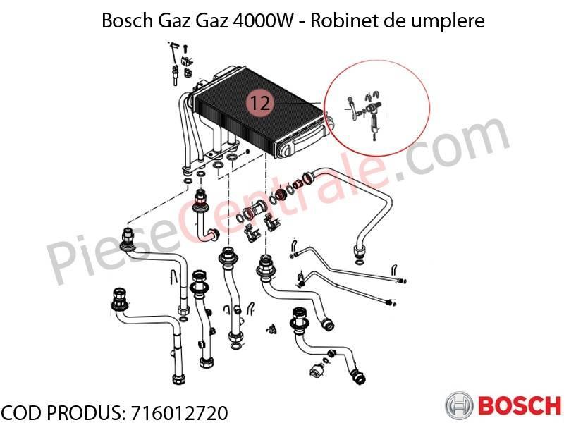 Poza Robinet de umplere centrala termica Bosch Gaz 4000W