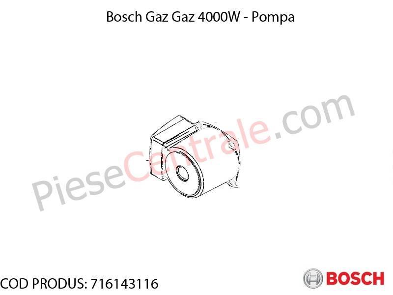 Poza Pompa centrala termica Bosch Gaz 4000W