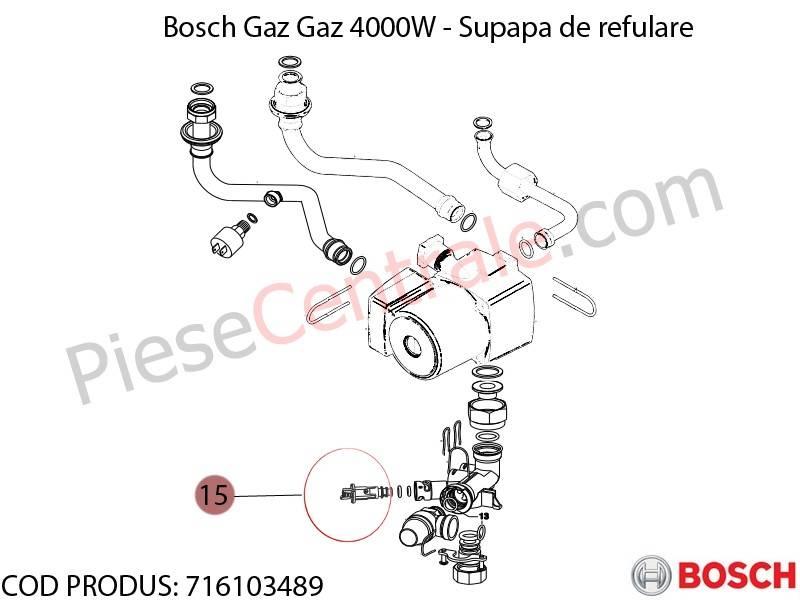 Poza Supapa refulare centrala termica Bosch Gaz 4000W