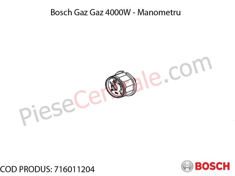 Poza Manometru centrala termica Bosch Gaz 4000W