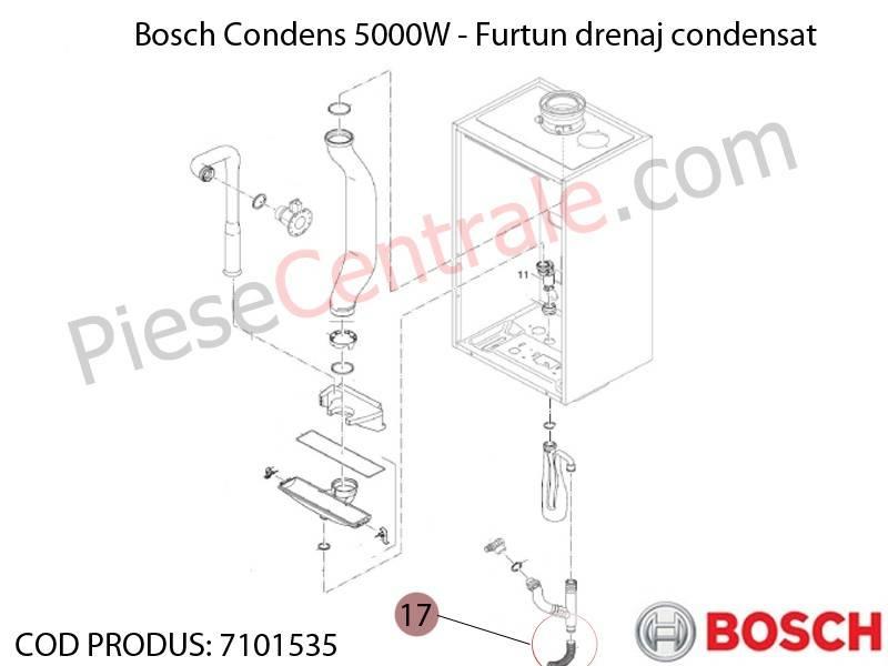 Poza  Furtun drenaj condensat centrala termica Bosch Condens 5000W