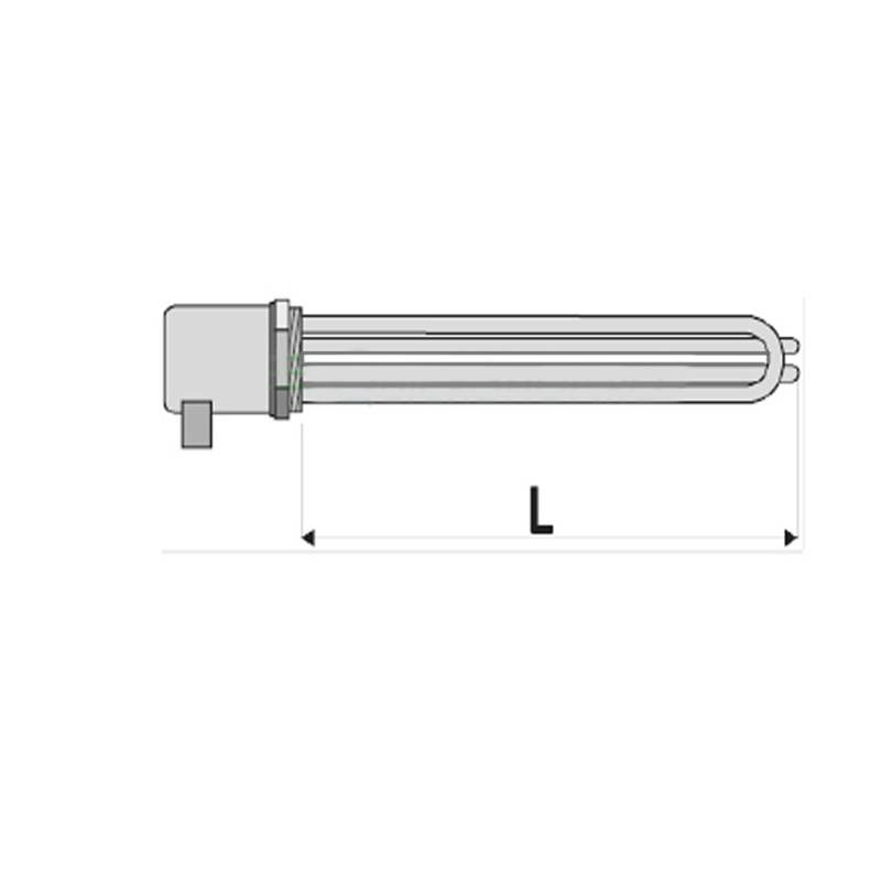 Poza Rezistenta electrica cu termostat pentru boiler indirect Woody - 4.5 kw