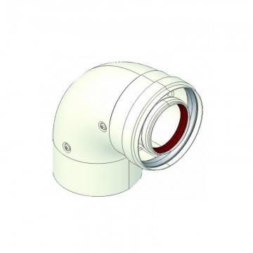 Poza Cot coaxial 90 grd intermediar pentru centrale in condensare 60/100