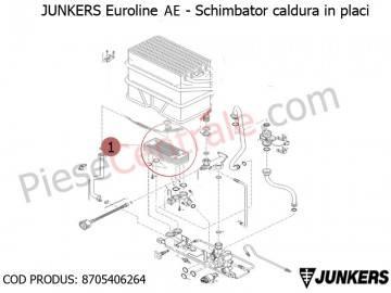 Poza Schimbator de caldura in placi centrale termice Junkers Euroline AE