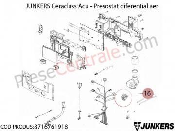 Poza Presostat diferential aer centrala termica Junkers Ceraclass ACU