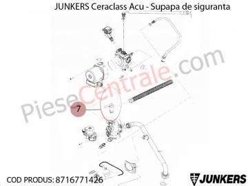 Poza Supapa de siguranta centrala termica Junkers Ceraclass ACU, Buderus Logamax U052