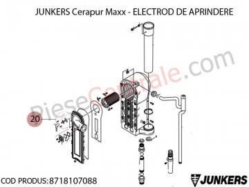 Poza Electrod de aprindere centrala termica Junkers Cerapur Maxx