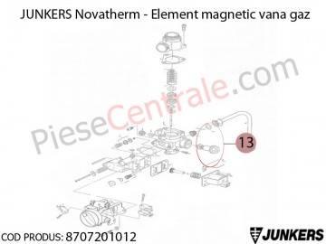 Poza Element magnetic vana de gaz centrale termice Junkers Novatherm