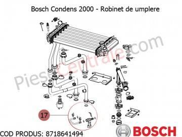 Poza Robinet de umplere centrala termica Bosch Condens 2000, Buderus Logamax Plus