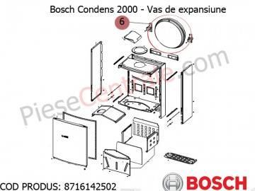 Poza Vas de expansiune centrala termica Bosch Condens 2000, Condens 3000, Gaz 5000, Buderus Logamax Plus, Logamax U042