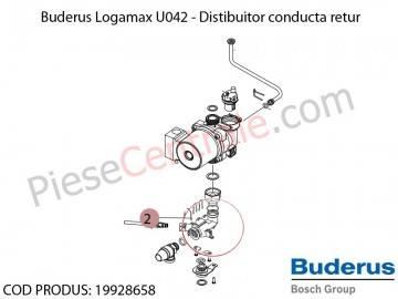 Poza Distibuitor conducta retur centrala termica Buderus Logamax U042