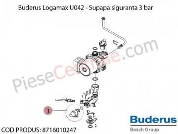 Poza Supapa de siguranta 3 bar centrala termica Buderus Logamax U042, Bosch Gaz 4000W