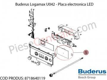 Poza Placa electronica LED centrala termica Buderus Logamax U042