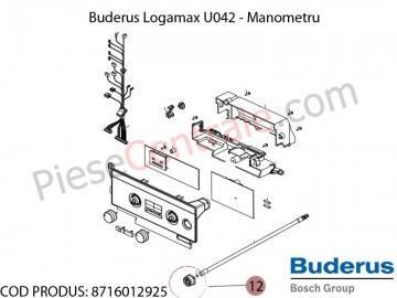 Poza Manometru centrala termica Buderus Logamax U042