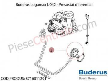 Poza Presostat diferential centrala termica Buderus Logamax U042, Bosch Gaz 4000W