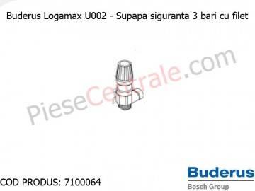 Poza Supapa siguranta 3 bari cu filet centrala termica Buderus Logamax U002