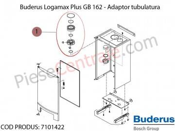 Poza Adaptor tubulatura centrala termica Buderus Logamax Plus GB 162