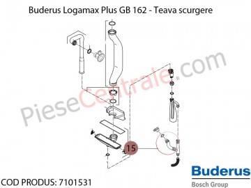 Poza Teava scurgere centrala termica Buderus Logamax Plus GB 162, Bosch Condens 5000W