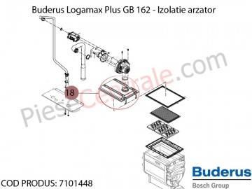 Poza Izolatie arzator centrala termica Buderus Logamax Plus GB 162, Bosch Condens 5000W
