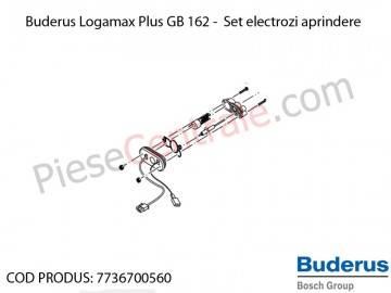 Poza Set electrozi aprindere centrala termica Buderus Logamax Plus GB 162