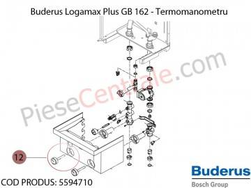 Poza Termomanometru centrala termica Buderus Logamax Plus GB 162, Bosch Condens 5000W