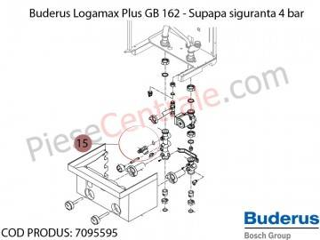 supapa siguranta 4 bar centrala termica buderus logamax. Black Bedroom Furniture Sets. Home Design Ideas