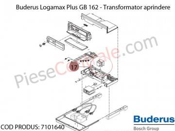 Poza Transformator de aprindere centrala termica Buderus Logamax Plus GB 162