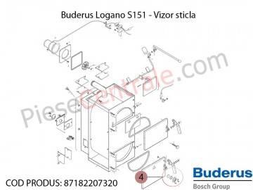 Poza Vizor sticla centrala termica Buderus Logano S 151