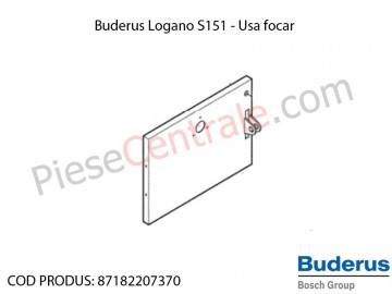 Poza Usa focar cenusar centrala termica Buderus Logano S 151
