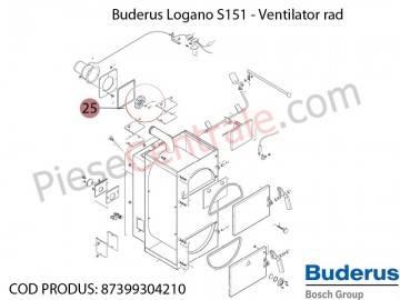Poza Roata de suflanta centrala termica Buderus Logano S 151