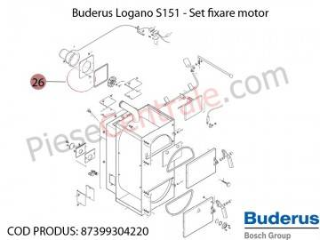 Poza Set fixare motor centrala termica Buderus Logano S 151