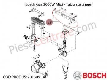 Poza Tabla sustinere centrala termica Bosch Gaz 3000W Midi