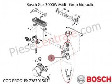Poza Grup hidraulic centrala termica Bosch Gaz 3000W Midi