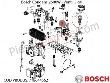 Poza Ventil 3 cai centrala termica Bosch Condens 2500W