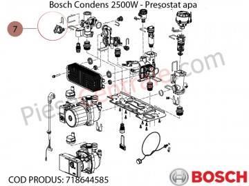 Poza Presostat apa centrala termica Bosch Condens 2500W