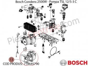 Poza Pompa TSL centrala termica Bosch Condens 2500W