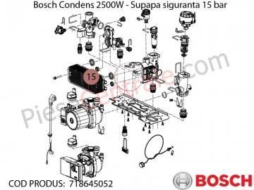 Poza Supapa siguranta 15 bar centrala termica Bosch Condens 2500W