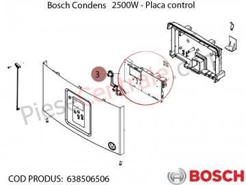 Poza Placa electronica centrala termica Bosch Condens 2500W