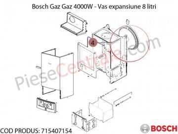 Poza Vas expansiune 8 litri centrala termica Bosch Gaz 4000W