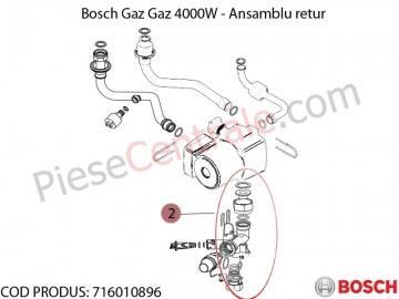 Poza Ansamblu retur centrala termica Bosch Gaz 4000W