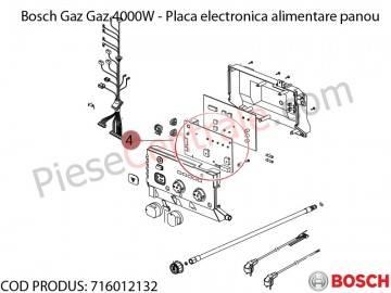 Poza Placa electronica alimentare panou centrala termica Bosch Gaz 4000W