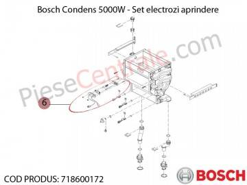 Poza Set electrozi aprindere centrala termica Bosch Condens 5000W